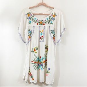 Back from Bali Embroidered Cover Up Sz M/L